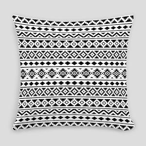Aztec Essence (II) BW Everyday Pillow