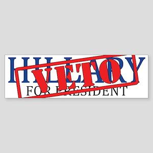 Veto Hillary Bumper Sticker