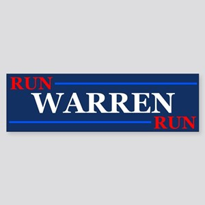 Run Warren Run Bumper Sticker