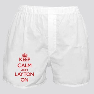 Keep Calm and Layton ON Boxer Shorts