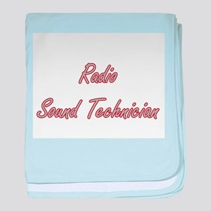 Radio Sound Technician Artistic Job D baby blanket