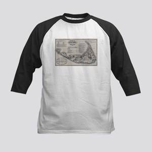 Vintage Nantucket Map Baseball Jersey
