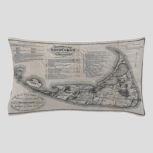 Vintage Nantucket Map Pillow Case