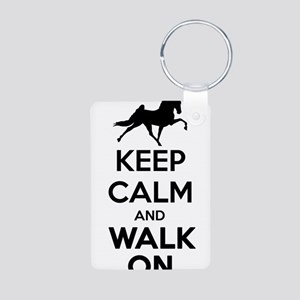 Keep Calm and Walk On Light Keychains