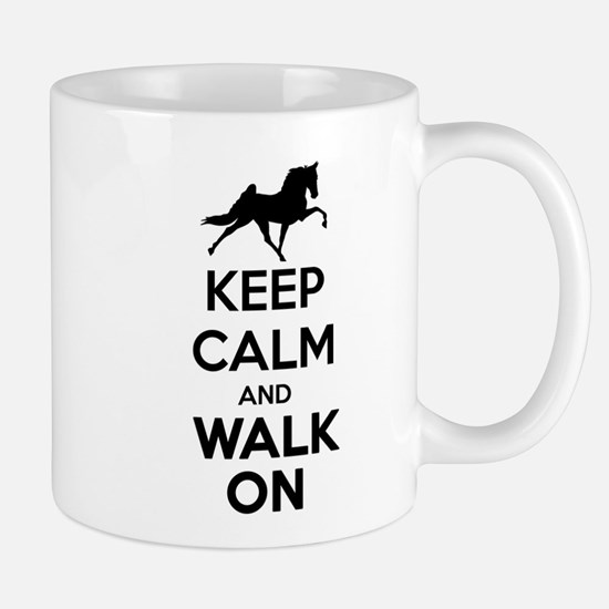Keep Calm and Walk On Light Mugs