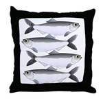 Alewife herring v2 Throw Pillow