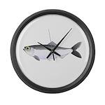 Alewife herring v2 Large Wall Clock
