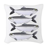 Alewife herring v2 Woven Throw Pillow