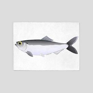 Alewife herring v2 5'x7'Area Rug