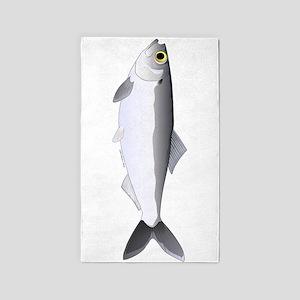 Alewife herring v2 Area Rug