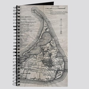 Vintage Nantucket Map Journal