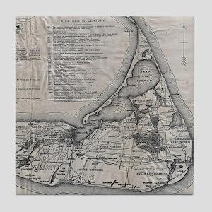 Vintage Nantucket Map Tile Coaster