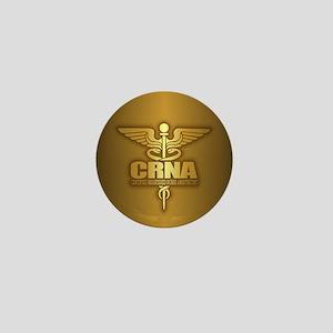 CRNA gold Mini Button