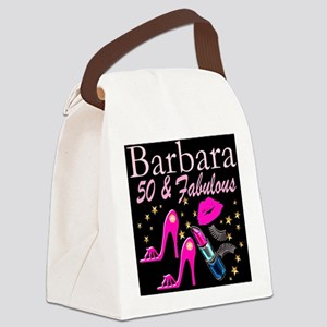 50TH GLAMOUR GIRL Canvas Lunch Bag