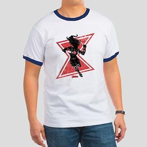 The Avengers Black Widow Ringer T