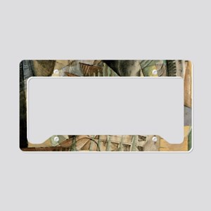 Rush Hour by Max Weber Vintag License Plate Holder