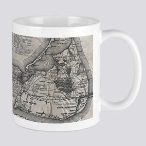 Vintage Nantucket Map Mugs