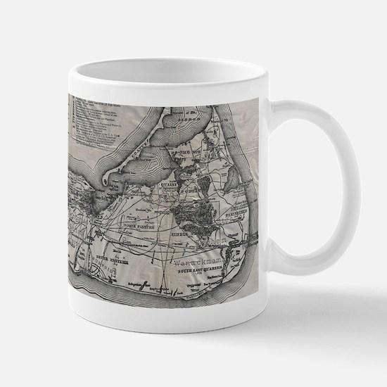 Vintage Nantucket Map Mugs
