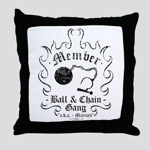 Ball & Chain Gang Throw Pillow