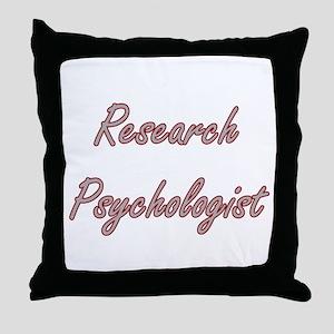 Research Psychologist Artistic Job De Throw Pillow