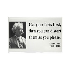 Mark Twain 27 Rectangle Magnet