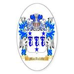 MacAuliffe Sticker (Oval 50 pk)