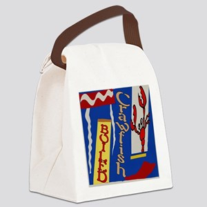 Abstarct Crawfish Boil Design Canvas Lunch Bag