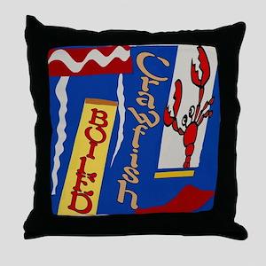 Abstarct Crawfish Boil Design Throw Pillow
