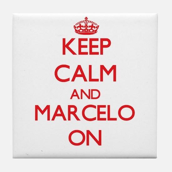 Keep Calm and Marcelo ON Tile Coaster