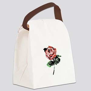 A Single Rose Canvas Lunch Bag