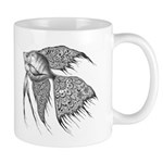 Black Lace Angelfish Mug Mugs