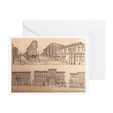 Vancouver Gastown Souven Greeting Cards (Pk of 20)