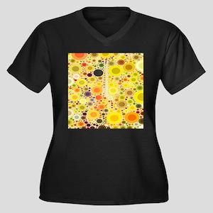 summer yellow circles sunflower Plus Size T-Shirt