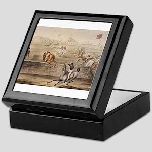 thoroughbred horse racing art Keepsake Box