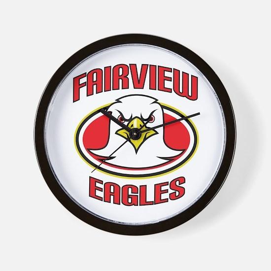 Fairview Eagles 2 Wall Clock