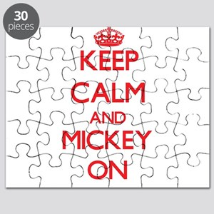 Keep Calm and Mickey ON Puzzle