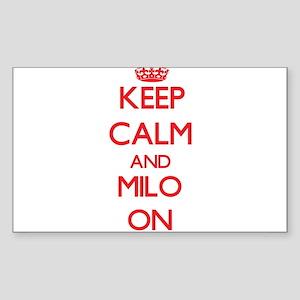 Keep Calm and Milo ON Sticker