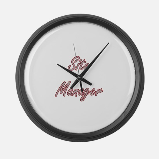 Site Manager Artistic Job Design Large Wall Clock