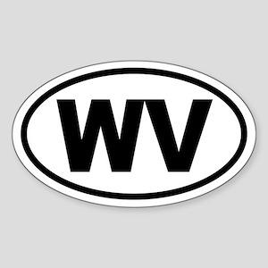 Basic West Virginia Oval Sticker