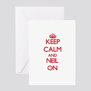 Keep Calm and Neil ON Greeting Cards