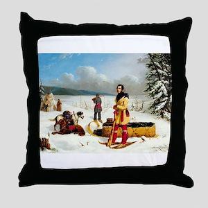 skiing art Throw Pillow
