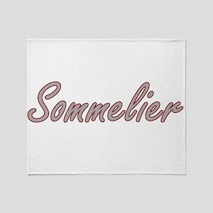 Sommelier Artistic Job Design Throw Blanket