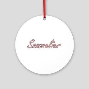 Sommelier Artistic Job Design Ornament (Round)