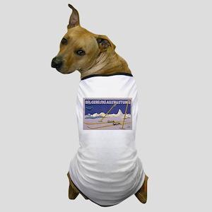 skiing art Dog T-Shirt