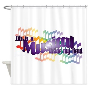 broadway musical shower curtains cafepress - Musical Shower Curtains