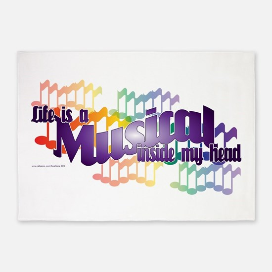 Life is a Musical 5'x7'Area Rug