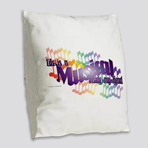 Life is a Musical Burlap Throw Pillow