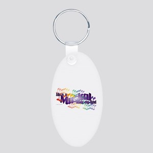 Life is a Musical Aluminum Oval Keychain
