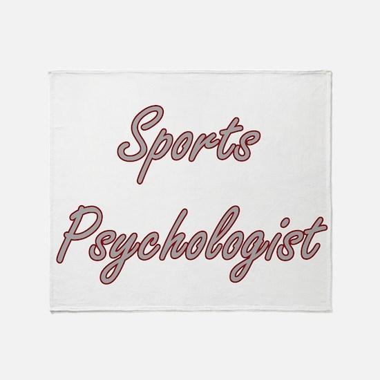 Sports Psychologist Artistic Job Des Throw Blanket