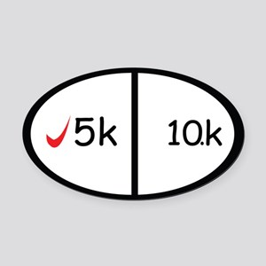 5k and 10k Oval Car Magnet